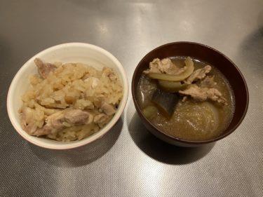 【男の簡単/こだわり料理 NO.3】鶏肉の炊き込みご飯と野菜たくさん豚汁