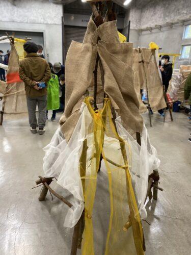 【子連れ名古屋周辺お出かけ】名古屋市美術館のワークショップ「隠れ家を作ろう」