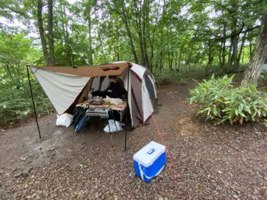 【子連れ名古屋周辺お出かけ】初めてのMyテントキャンプと大雨 Orkひるがの @郡上市高鷲