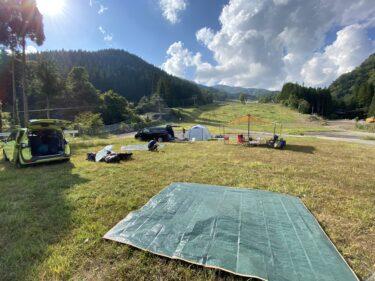 【子連れ名古屋周辺お出かけ】めいほう高原キャンプフィールドのオートサイトゲレンデ @郡上市